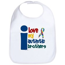 I Love My Autistic Brothers 1 Bib