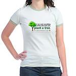Ringer T-shirt. Plant a tree, not a pet.