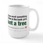 Large Mug. Plant a tree, not a pet.