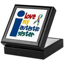 I Love My Autistic Sister 1 Keepsake Box