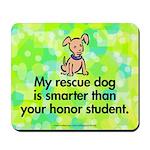 Mousepad. Smart rescue dog.