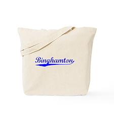 Vintage Binghamton (Blue) Tote Bag