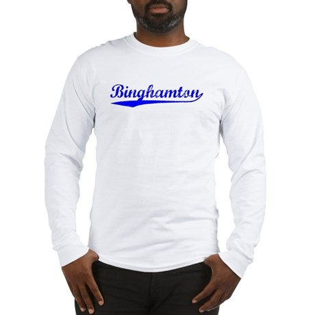 Vintage Binghamton (Blue) Long Sleeve T-Shirt
