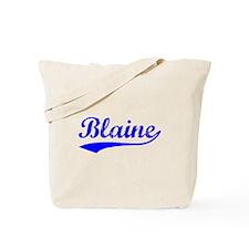Vintage Blaine (Blue) Tote Bag