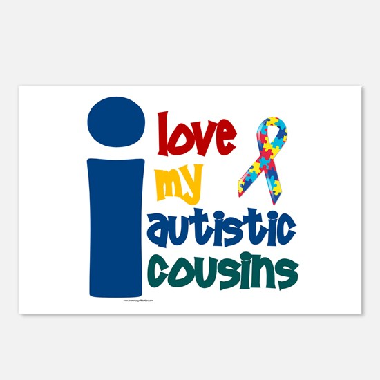 I Love My Autistic Cousins 1 Postcards (Package of