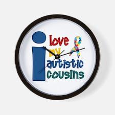 I Love My Autistic Cousins 1 Wall Clock