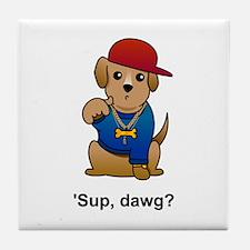 Gangsta Dog Tile Coaster