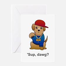 Gangsta Dog Greeting Card