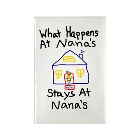 Nana's House Rectangle Magnet