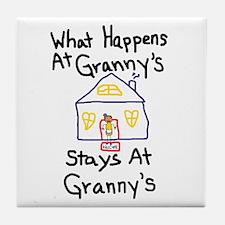 Granny's House Tile Coaster