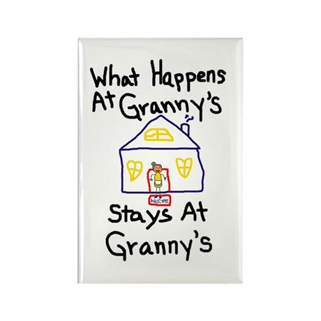 Granny's House Rectangle Magnet