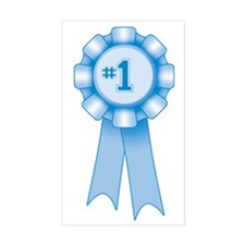 First Place Blue Ribbon Rectangle Decal