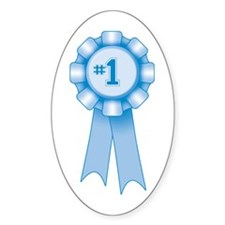 First Place Blue Ribbon Oval Decal