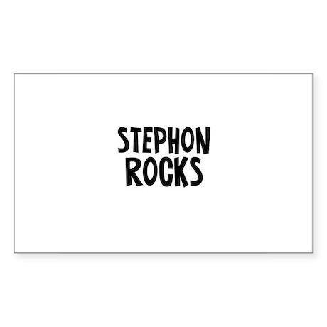 Stephon Rocks Rectangle Sticker