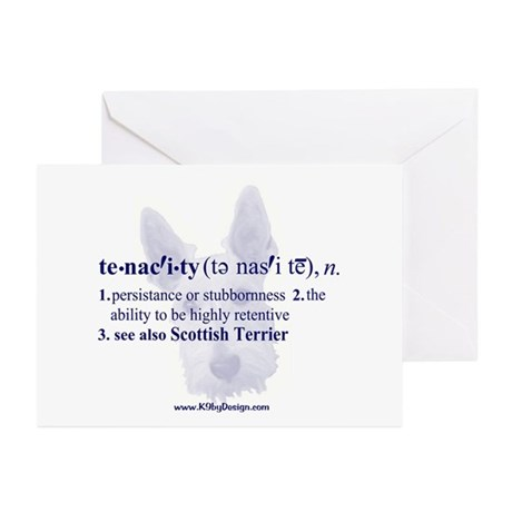 Tenacity--Scottish Terrier Greeting Cards (Package