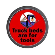 Truck beds for tools Wall Clock