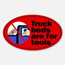 Truck Beds For Tools Oval Decal