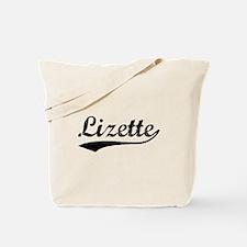 Vintage Lizette (Black) Tote Bag