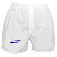 Vintage Bryan (Blue) Boxer Shorts