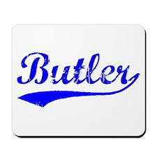 Vintage Butler (Blue) Mousepad