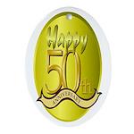 50th Anniversary Keepsake (Oval)