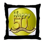 50th Anniversary Throw Pillow