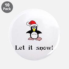 """Let it Snow! 3.5"""" Button (10 pack)"""