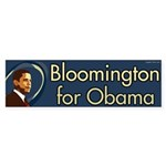 Bloomington for Obama bumper sticker