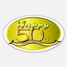 50th Anniversary Oval Decal