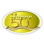 50th Anniversary Oval Sticker