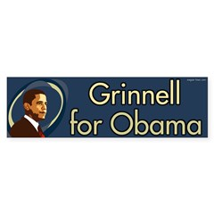 Grinnell for Obama bumper sticker