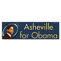 Asheville for Barack Obama bumper sticker