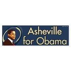 Asheville for Barack Obama bumper sticker