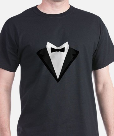 Black Tuxedo Suit with bow tie C946n T-Shirt