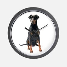 Doberman Pinscher Picture - Wall Clock