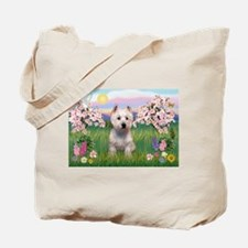 Blossoms & West Highland Tote Bag