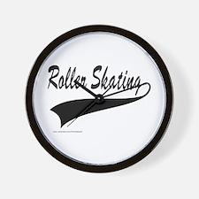 ROLLER SKATING Wall Clock