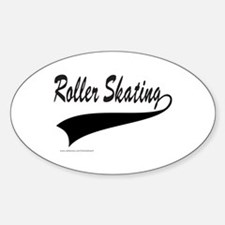 ROLLER SKATING Oval Decal