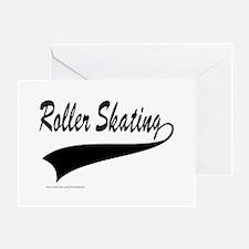 ROLLER SKATING Greeting Card