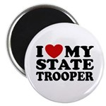 I Love My State Trooper Magnet
