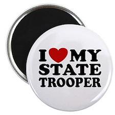 I Love My State Trooper Magnet
