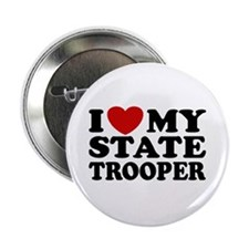 """I Love My State Trooper 2.25"""" Button"""
