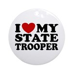 I Love My State Trooper Ornament (Round)