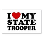 I Love My State Trooper Rectangle Sticker