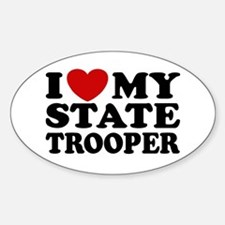 I Love My State Trooper Oval Decal