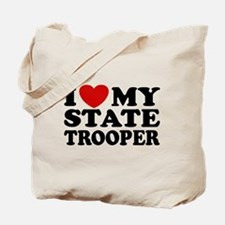 I Love My State Trooper Tote Bag