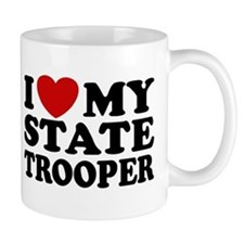 I Love My State Trooper Mug