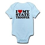 I Love My State Trooper Infant Bodysuit