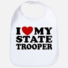 I Love My State Trooper Bib