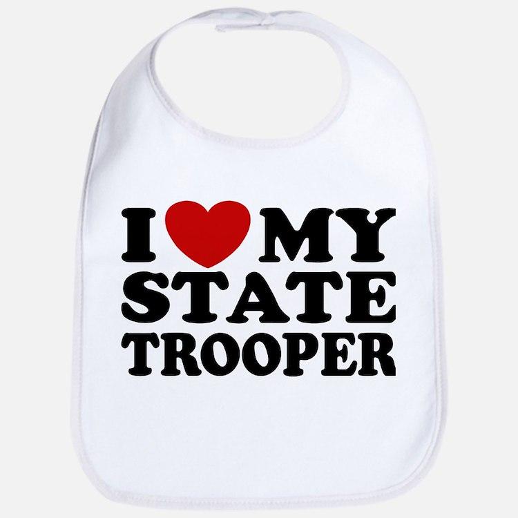 I Love My State Trooper Bib